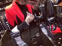 Wholesale Korean Slim Men S Suit - 2017 Star with the new Korean version of the Slim suit jacket jacket men's leisure tide performances
