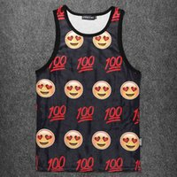 Wholesale Fashionable Boys Clothes - Wholesale- Fashionable Funny Emoji Expression Mesh Vests Men Tank Tops Sleeveless Crew Neck Polyester Boys Clothing Bodybuilding Singlet