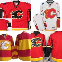 Wholesale Team Hockey Jerseys China - Free Shipping Calgary Flames Hockey Jerseys Blank Team Color Red Jerseys Embroidery Name Number China Cheap