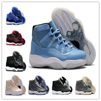 Wholesale Silk Satin Gift Boxes - High Quality 2017 Retro 11 Mens Basketball Shoes with Shoe Box Ultimate Gift of Flight XI Royal Blue Velvet Cool Gray Burgundy Maroon
