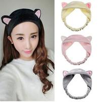 Wholesale Trinkets Sale - Hot Sale Cat Ear Hair Head Band Hairbands Headbands Parfree shipping Headdress Headwear Ornament Trinket Hair Accessories Makeup Tools