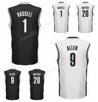 Wholesale Dry Printing - 2017 Latest 20 Timofey Mozgov Jersey Men Printed 9 Jarrett Allen 1 D Angelo DAngelo Russell Basketball Jerseys Team Black White High Quality