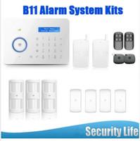 seguridad chuango al por mayor-LS111- Android IOS App B11 Chuango Dual red PSTN y GSM antirrobo Security Alarm System CGP315kit