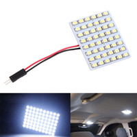 Wholesale led dome 48 - White LED Panel 48 SMD 1210 Car Vehicle Truck Interior Dome Lights Bulb Festoon Indicator Lighting