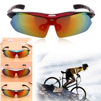 Wholesale Golden Group - Unisex Outdoor Cycling Eyewear Polarized Lenses Cycling Bike Bicycle Sunglasses Goggles UV-400 Protection 5 Groups Lenses