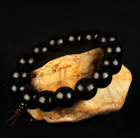Wholesale Wood Beads 15mm - 10-15MM Prayer Wooden Bead Bracelet New Men Wood Beads Bracelets Sandalwood Buddhist Buddha Meditation Jewelry NE679
