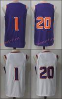 Wholesale Black Orange Heels - Mens 2017-18 New season 1 Devin Booker 20 Josh Jackson white black orange purple Swingman Jersey North Carolina Tar Heels College