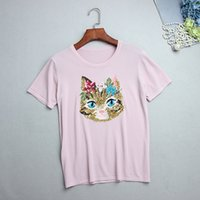 Wholesale Pink Sequin Sweater - Free Size 2017 Brand Same Style Sweaters T Shirts Pullover Regular Short Sleeve Crew Neck Solid Sequins Pink  White ZH8