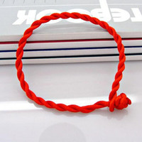 Wholesale lucky red bangle - New Men Bracelet Red Rope Bangle Lucky Bracelets on the Leg for Women Cord String Line Handmade Jewelry For Couple Lover Gift