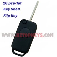 Wholesale Replacement Key Shell - 10 pcs auto remote car key replacement 1button HU64 key blade for Mercedes W168 W124 W202 1984-2004 keyless Shell