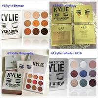 Wholesale Eyeshadow Palette Style - 4 styles NEW Kylie Jenners Bronze Burgundy birthday Kyshadow palette Holiday Edition The Holiday 2016 Palette Eyeshadow 12pcs