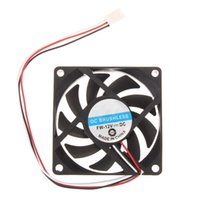 Wholesale cpu fan quiet - Wholesale- 3pin 12v DC Brushless Fan for smooth quiet operation Small PC CPU Cooling Fan Heat sink 70x70x15mm High Quality