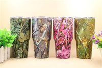 Wholesale Stainless Steel Bottle Print - 304 Stainless Steel CAMO cups Rambler Tumblers 30oz Coolers Insulation Vacuum Water Bottle Camouflage Grass Leaves trees Printing Mugs