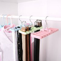 Hot Storage Rack Multi Function Tie Belt Écharpe Cravate Ménage Manteau Non-glissement Space Saver Hot Sale 3 2pr J R