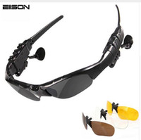 Wholesale bluetooth phone sunglasses - SunGlasses Headsets Smart Wireless Bluetooth Headphones Handfree For IOS Anroid phones with retail package