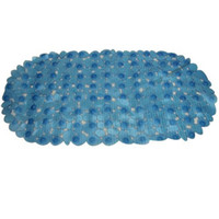Wholesale Suction Cup Pvc Bath Mat - Wholesale- CLOS Anti-Slip Bath Mat with Suction Cup Waterproof PVC Mats Bathroom Supplies Blue Transparent