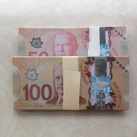 Wholesale Photography Old - Canada Practicing Props Paper Money Collection CAD Bank Training Learning Banknotes Teaching Money Movie Photography tool Children Gift 100P