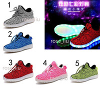 online Shopping Led Luminous Shoes - 5 Color kids West 350 Boost LED Luminous sneakers Boys girls Boots Shoes Running Sports Shoes booties toddler shoes B