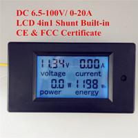 Wholesale Digital Dc Current Voltage Panel - PEACEFAIR DC 6.5-100V 20A 4IN1 digital display LCD screen voltage current power energy voltmeter Ammeter Panel meter