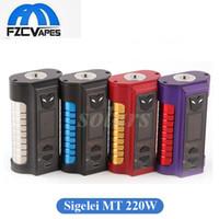 Wholesale Metal Robots - Authentic Sigelei MT 220W Box Mod 1.0inch TFT Screen 4 Colors Robot Deisgn E Cigarette Vape Mod vs Snowwolf VFENG 100% Original