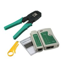 RJ45 RJ12 CAT5 CAT5e Portable LAN Network Tool Kit Utp Testeur de câble ET Serre-câbles Crimp Crimper Plug Clamp PC XXM8