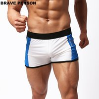 Wholesale Boxer Person - BRAVE PERSON Swimwear Men Swimming Trunks Shorts Mens Nylon Comfortable Gym Boxers Swimsuit Sportswear Beach Shorts B1003