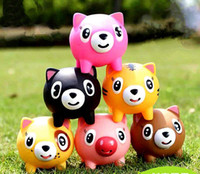 Wholesale Pig Toys For Birthday Gifts - Wholesale- Screams Tongue Doll Toys Tricky Vent Pig Style Doll Toys Random Colors for Kid Birthday Gift Fast Shipping Free Delivery