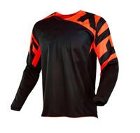 nefes alabilen uzun kollu gömlekler toptan satış-Yarış Setleri Motocross DH Yokuş Aşağı MX MTB Nefes Motosiklet Bisiklet T Gömlek Formalar Uzun Kollu Havayolu Off-Road Jersey Yarış t-shirt