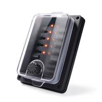 protección de la cuchilla al por mayor-Indicador LED IP56 Cubierta protectora a prueba de agua Hoja Portafusibles Caja de fusibles Bloque ATC ATO 10 vías 250 amperios