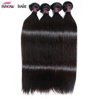 Wholesale virgin hair 34 silky straight for sale - Group buy Brazilian Peruvian Maylasian Silky Straight Hair Bundles Ishow A Unprocessed Virgin Pure Hair Extension Human Hair Weave Bundles inch