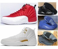 Wholesale Sneaker Women High Cut - High Quality Retro 12 Basketball Shoes Men Women 12s OVO White 12s Gym Red Wolf Grey Flu Game Sports Sneakers With Shoes Box