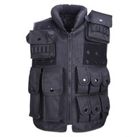 Wholesale Zipper Magazine - Tactical Vest Cool Mens Hunting Vest Outdoor Training Military Army Swat Vests Men Waistcoat Protective Magazine Pouch Black