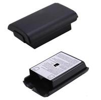 xbox game controller al por mayor-venta al por mayor cubierta de la batería para el controlador Xbox360 Game Console caja de la batería para el control inalámbrico Xbox 360