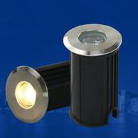 açık gömme zemin aydınlatması toptan satış-Ücretsiz kargo 3 W CREE Chip CE RoHS 85-265 V / DC12V Gömme aydınlatma Açık Lamba LED Spot Zemin Bahçe Yard LED Yeraltı ışık
