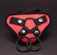 Wholesale women sex toys dildos for sale - Satin Strap On Dildo Harness Adjustable Belt Strap Harness Pants For Women Lesbian Gay Sex Toys Dildos Dongs