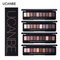 Wholesale Elegant Brush Set - Wholesale-UCANBE 10 Warm Colors Natural Elegant Eye Shadow Practical Matte Eyeshadow Mineral Pigment Nude Makeup Palette Set With Brush