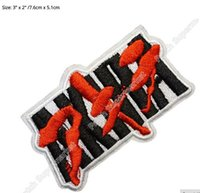 """Wholesale Anime Appliques - 3"""" Akira Text patch Capsule Gang Manga Anime Japanese TV Movie Film Applique Costume Embroidered iron on patch"""