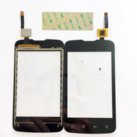 Wholesale Fly Jazz - Wholesale- New Capacitive Touch Screen For Fly IQ238 Jazz Iq238 Touchscreen Digitizer Panel Glass Lens Black Color+3M Sticker