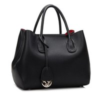 Clutch Bags black leather hobo - New real leather brand designer women handbag hobos big size toes fashion female luxury bag