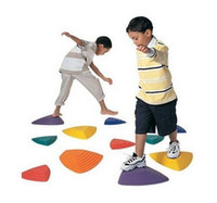 River Stepping Stones sports integration - River Stepping Stones Walking Game Assorted Sizes Set of Assorted Colors Sensory Integration Training Equipment
