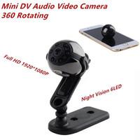 Wholesale sq9 camera for sale - Group buy 360 Rotatable mini Camera SQ9 P Full HD leds Night vision Mini DV Video Recorder car DVR mini camcorder Sports DV