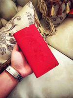 Wholesale Wallet Paris - Come With Original Box Logo Paris Premium Red Leather Slender Wallet X Red Wallet 17ss 45 Genuine Leather Outdoor Sport Bag