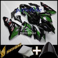 satış sonrası kawasaki ninja fairings toptan satış-23 renkler + Hediyeler için Aftermarket Marangozluk Kawasaki ZX10R 04 05 ZX-10R 2004-2005 04-05 yeşil siyah Motosiklet Vücut Kiti