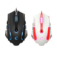 Wholesale Cooler Pad Led - USB wire optical mouse ultra thin 2.4ghz good game sports led mouse cool lol cf play mouse 6 buttons wholesale for samsung HP IBM Think Pad