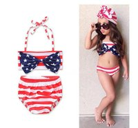 Wholesale Wholesale Boutique Swimsuits - 2017 Girls Childrens Bikinis Swimwear Clothing Summer Fashion Beach Swimsuit Two-Pieces Bow Bathing suit Girl Kids Boutique Clothes JYL03