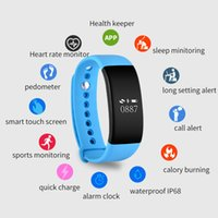 Wholesale Oled Display Bracelet - Wholesale- Waterproof IP68 Heart Rate Monitor Smart Band V66 OLED Display Wristband Bracelet Sport Activity Fitness Tracker For IOS Android