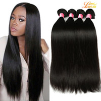 Wholesale Indian Natural Weave Unprocessed - 8A Mink Brazilian straight Virgin Hair Bundles 100% Brazilian virgin Hair straight Unprocessed Peruvian Malaysian Indian virgin Human hair