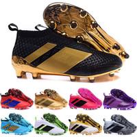 Wholesale Mens Pvc Boot - 2017 Cheap Wholesale ACE 16+ PureControl FG 2016 NEW Men's Soccer Shoe boots cheap Performance Mens ace 16 soccer cleats football shoes