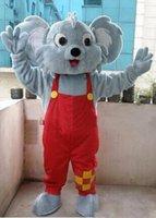 mascotes de urso adulto venda por atacado-Profissional Koala Bear Mascot Costume Fancy Dress Tamanho Adulto New Arrival frete grátis