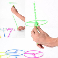 Wholesale Helicopter Day - Lowest price helicopter flying toys Hand push flying saucer and frisbee Hand rotation outdoor toys for Children's Day kids toys